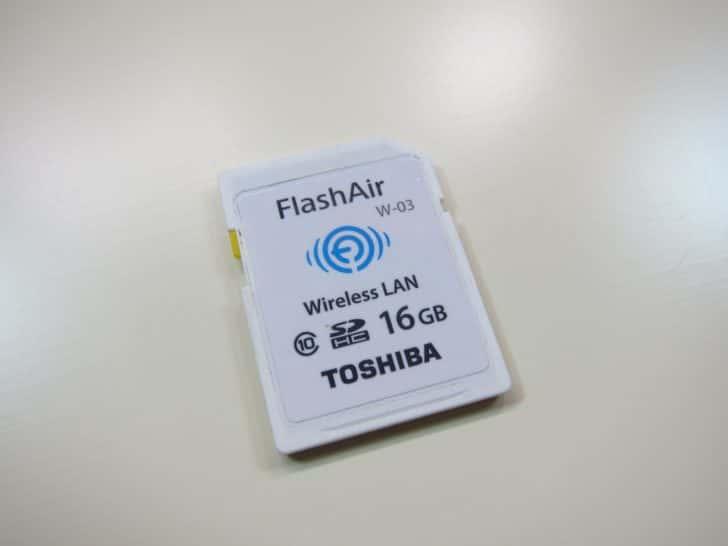 ケーブルをつながなくても写真を転送できるSDカード FlashAir