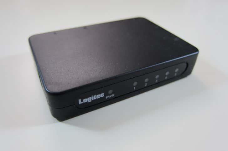 USB電源で動作するスイッチングハブLogitec  LAN-SW05PSBEレビュー