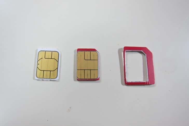 SIMパンチでSIMを切るときの時のポイント