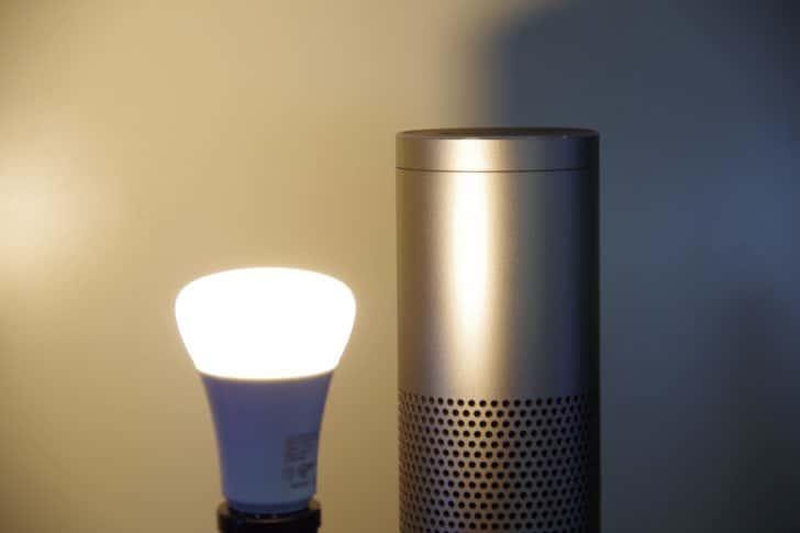 Amazon Echo とHue点灯光量低