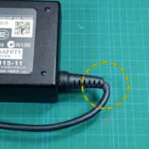ACアダプタのコード断線を修理する方法、断線個所を特定してコード補修