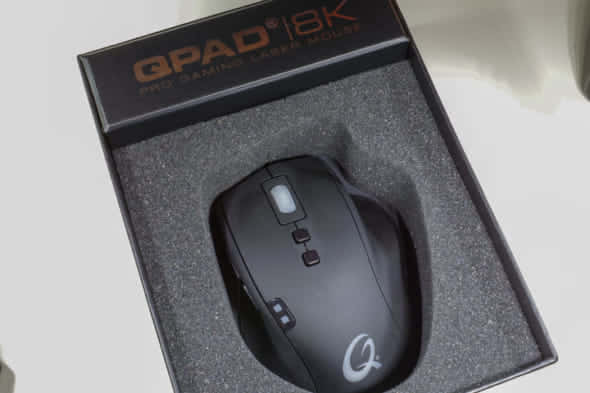 QPAD 8K Laser Pro Gaming Mouse個装箱