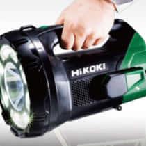 HiKOKI コードレスサーチライト「UB18DA」遠くまで照射できる圧倒的な大光量!