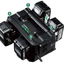 HiKOKI UC18YTSL 4つの電池を一度に充電!ACタップ内蔵で現場に便利な充電器