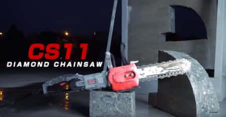 チェーンソーでコンクリート切断、史上最強の電動チェーンソーAGP Power Tools 「CA11」