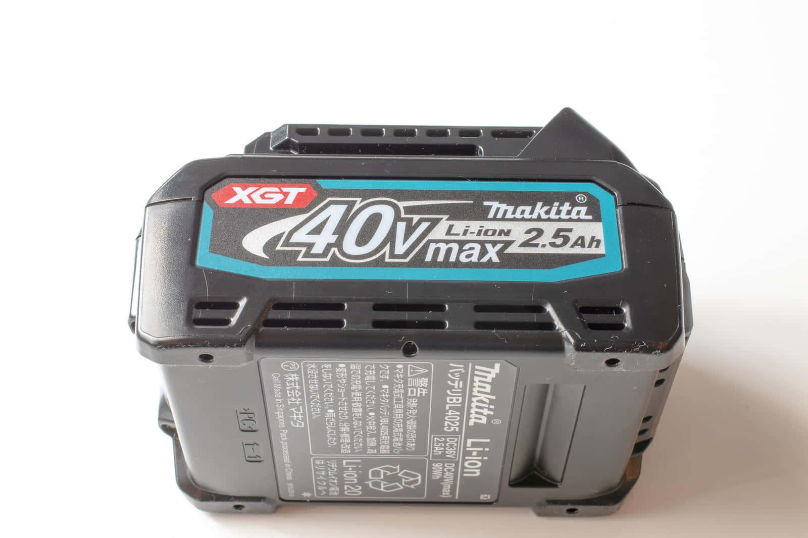 マキタの新40Vmaxバッテリーを分解して、防水バッテリーの秘密を探ってみた