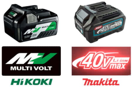 HiKOKI「マルチボルト」とマキタ「40V MAX」の違い、次世代36V電動工具の違い