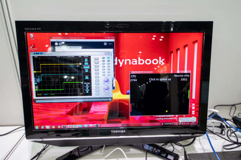 ET&IoT Technology2019 東芝情報システム、アナログニューロンチップ動作デモ