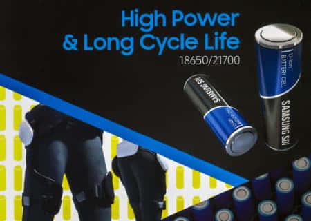 10.0Ahの大容量バッテリー販売も間近、SAMSUNG INR-21700-50S