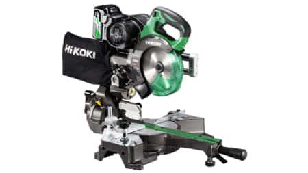 HiKOKI C3606DRB コードレス卓上スライド丸のこ、165mmチップソー 8寸切断・静音2段ベルトを搭載