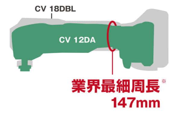 HiKOKI 日立工機 マルチツール CV12DA 寸法