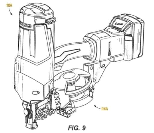 Milwaukee電動くぎ打ち機、ロール釘特許