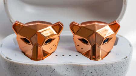 トラ形の個性的なデザイン「Tiger&Rose」、グラフェンスピーカー搭載TWSイヤホン|Makuakeレビュー