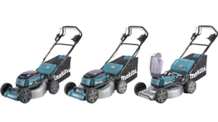 マキタ、バッテリーを4本搭載する充電式芝刈機 MLM462D, MLM532D, MLM533Dを発売