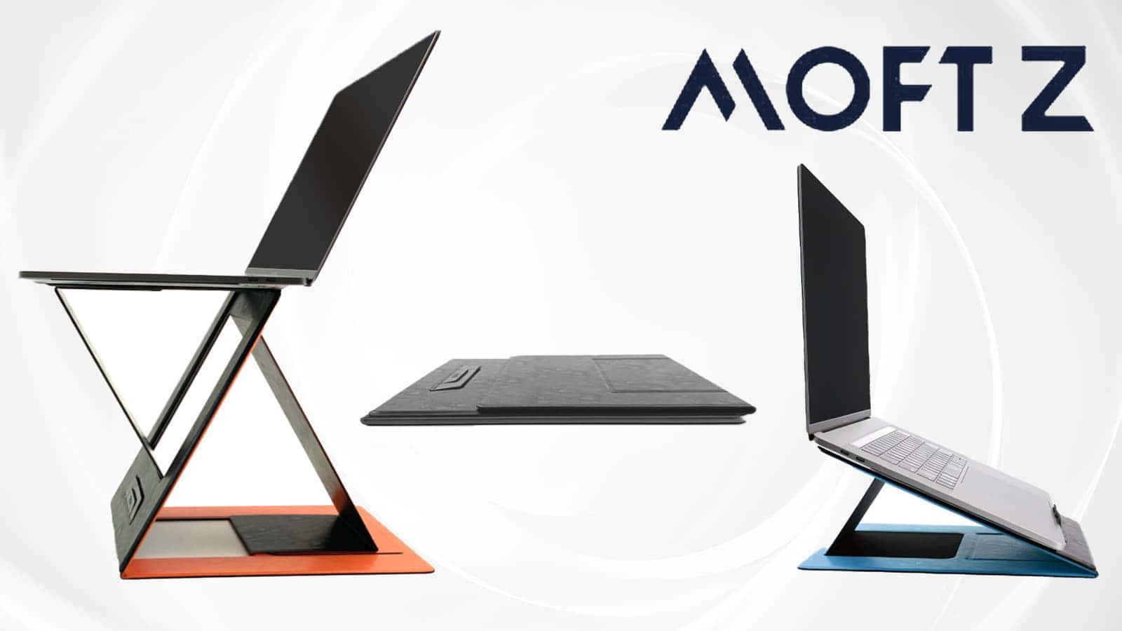極薄・折り畳みできるポータブルスタンド「MOFT Z」、場所を選ばない5変形が魅力
