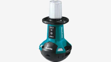 マキタ ML810 直立型の充電式360°エリアLEDライト、起き上がりこぼしで設置が楽