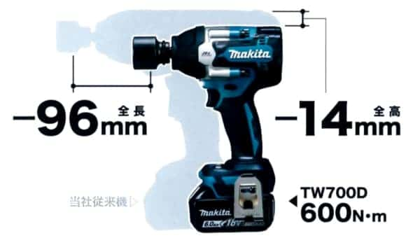 マキタ18V充電式インパクトレンチTW700D