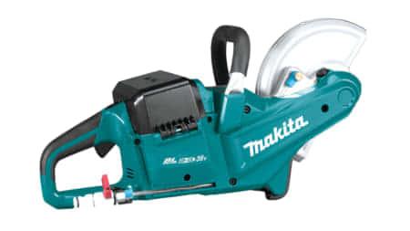 マキタ CE090D 充電式18V×2パワーカッター、88mm切込みでU字溝を一発切断