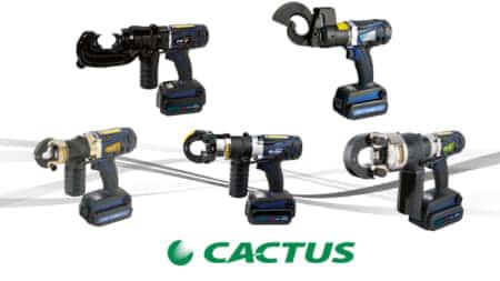 カクタス パナソニック電動工具バッテリーが使える油圧電設工具