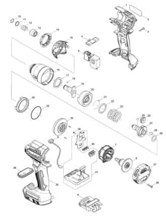 マキタ TD170D展開図