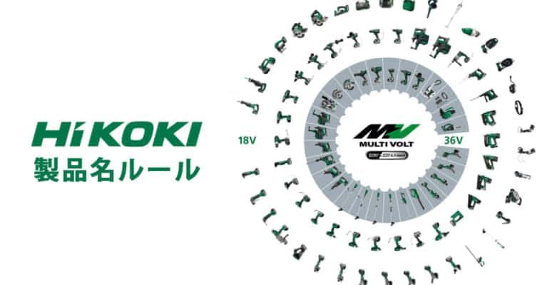 HiKOKI製品の命名ルールリスト